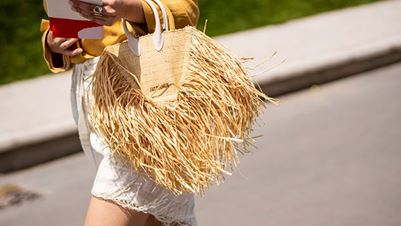 Straw bag for stylish summer looks