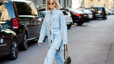 Oversized jeans shirt