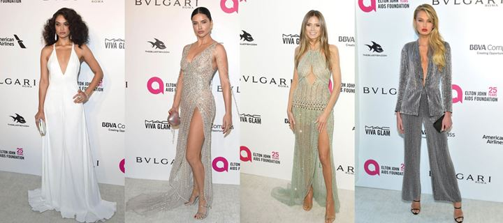 Οι celebrities στο Oscars viewing party Elton John AIDS Foundation