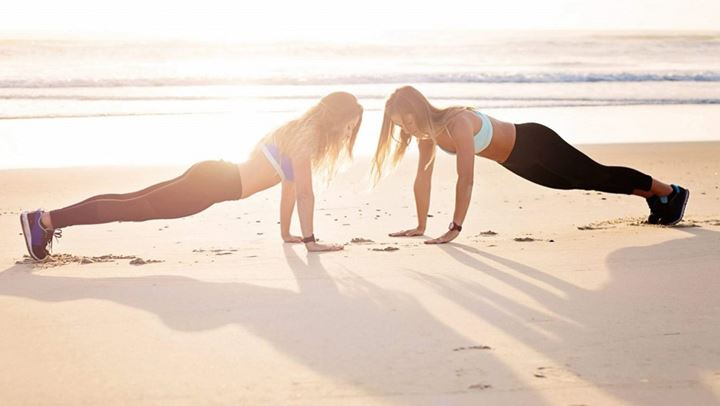 Beach workout in the sand!