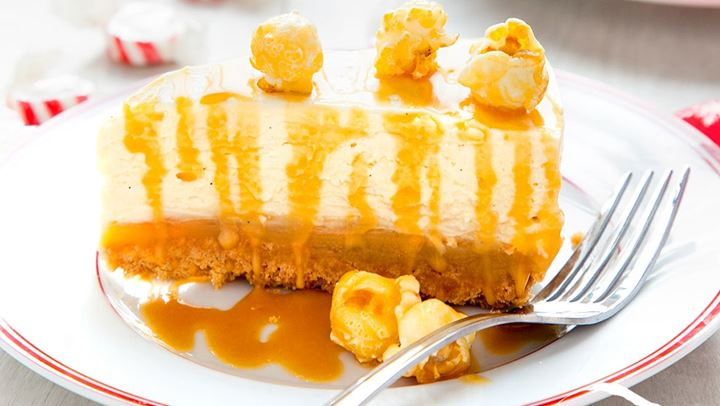 Cheesecake με salted caramel!