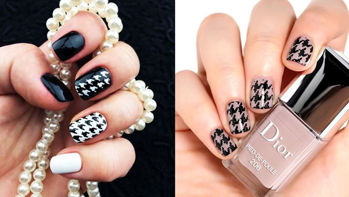 To pied de Poule είναι το κορυφαίο nail trend της χρονιάς!