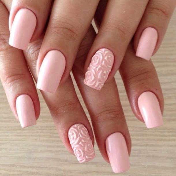 Girly - Faux ongles rose pale ...